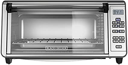 Black+Decker TO3290XSBD Toaster Oven, 8-Slice, Stainless Steel