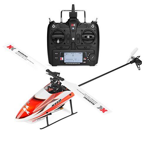 Weaston Helicóptero RC de 2.4G con Truco eléctrico, Motor sin escobillas, ala de una Sola hélice con giroscopio, Aviones RC, Seis Canales, Bloqueo Inteligente, Adultos, Aviones RC Profesionales