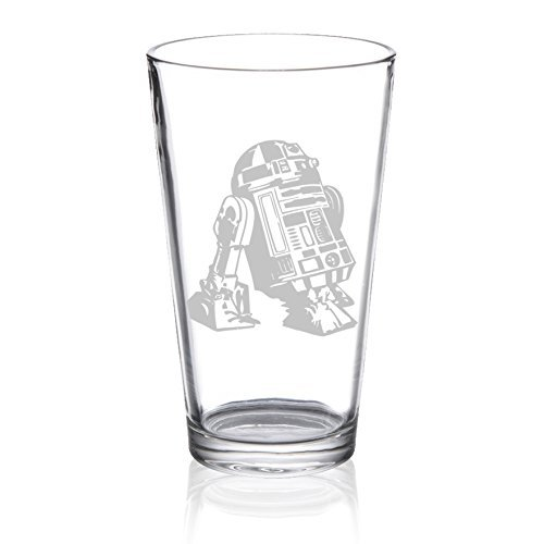 Star Wars - R2D2 - Etched Pint Glass