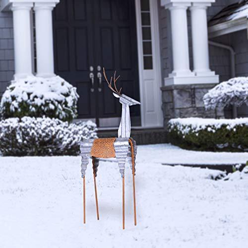 Alpine Corporation JUM324 Alpine Sheet Metal Reindeer, Outdoor Festive...