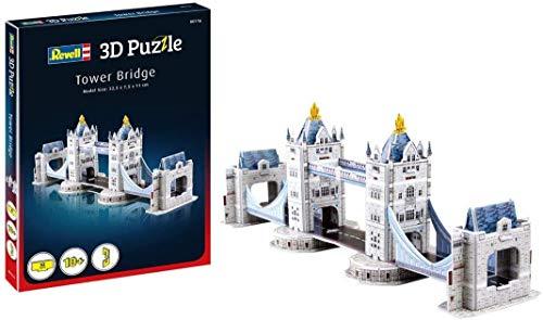 Revell 3D Puzzle 116 Tower Bridge aus London, eines der bekanntesten Bauwerke Englands, Breite 32,5 cm Zubehör, Farbig