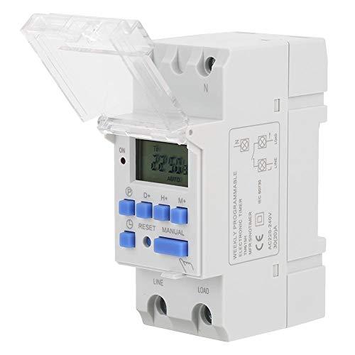 Programmeerbare tijdrelais, TM615H-2 220VAC weekmatig programmeerbare digitale LCD-timer tijdschakelaar voor lamp licht blazer veiligheid UL-lijst