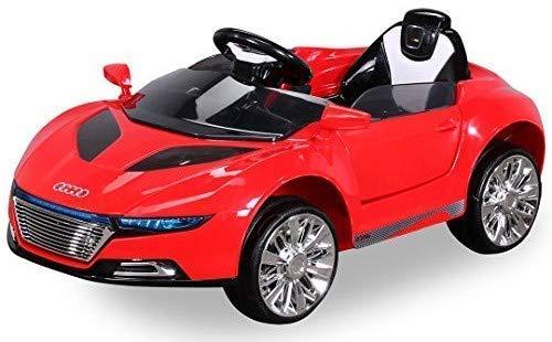 Actionbikes Motors Kinder Elektroauto Spyder A228 - Led Scheinwerfer - Fernbedienung - Weichgummiringreifen - Elektro Auto für Kinder ab 3 Jahre - Kinderauto (Rot)