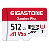 Gigastone 512GB Micro SD Card, Gaming Plus, Nintendo Switch Compatible, High Speed 100MB/s, 4K Video Recording, Micro SDXC UHS-I, A1 Run App, Class 10