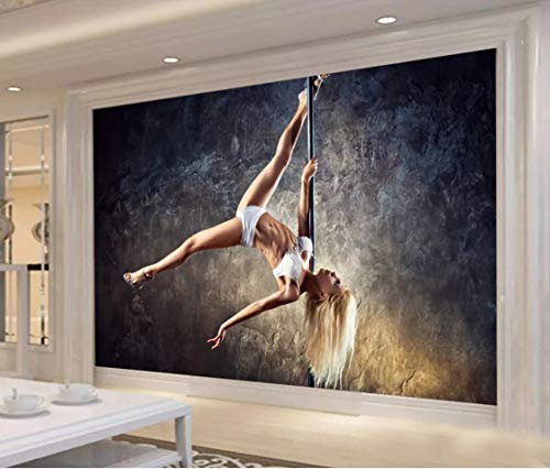 Mural 3D Decoración Interior Sala De Estar Dormitorio Fondo Pared Chica Sexy Bailarina De Barra Papel Pintado De Tela De Seda 400(An) X280(H) Cm