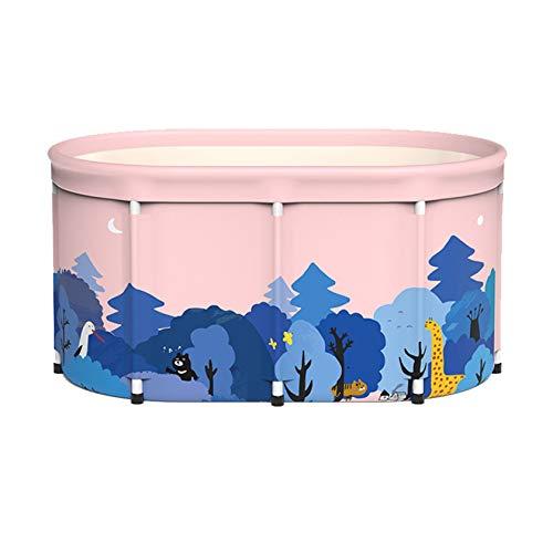 SYN-GUGAI Badewanne, Badewanne, Schwimmbad, Badewanne Tragbare Faltbare Badewanne Freistehende Badewanne Badewanne für Erwachsene und Kinder Ideal für kleine Duschkabine, Badezimmer Spa,A