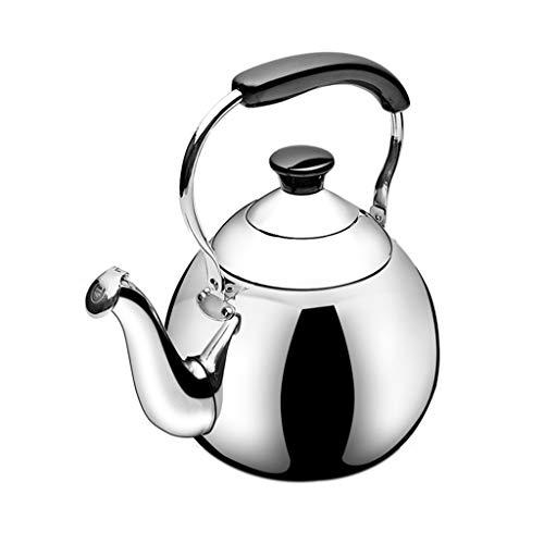 Tea Kettle Stovetop Whistling Tea Pot, Classic theepot uiterlijk Culinary Grade roestvrij stalen grote capaciteit koffie Ketel, Gooseneck thee potten Stove Top 4-Liter,3L