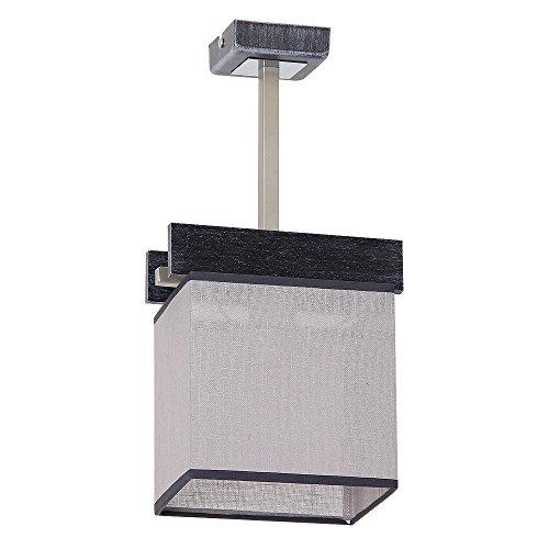 Elegante Deckenleuchte in Schwarz Grau Bauhausstil 1x E27 bis zu 60 Watt 230V aus gewebten Stoff & Metall Küche Esszimmer Lampe Leuchten Beleuchtung innen