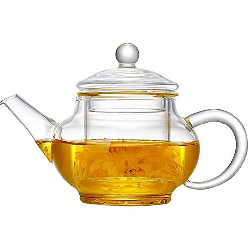 Tetera 250 ml Tetera de Vidrio Resistente al Calor Flor Juego de té Kettle Coffee Tea Pot Embarcación Juego de Tetera Tetera Tetera para la Fiesta del té (tamaño : 250ml)