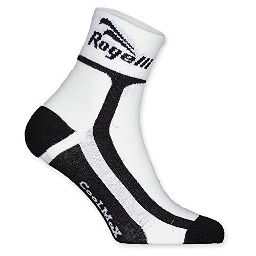 Rogelli, Calzini da Ciclismo Bambino RCS-03, Bianco (White/Black), 27/30