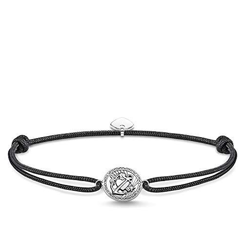Thomas Sabo Unisex-Armband Little Anker Secret Glaube Liebe Hoffnung 925er Sterlingsilber geschwärzt LS086-889-11-L22v