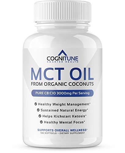 MCT Oil Softgels 3000 MG - Pure Caprylic Acid (C8) & Capric Acid (C10)...