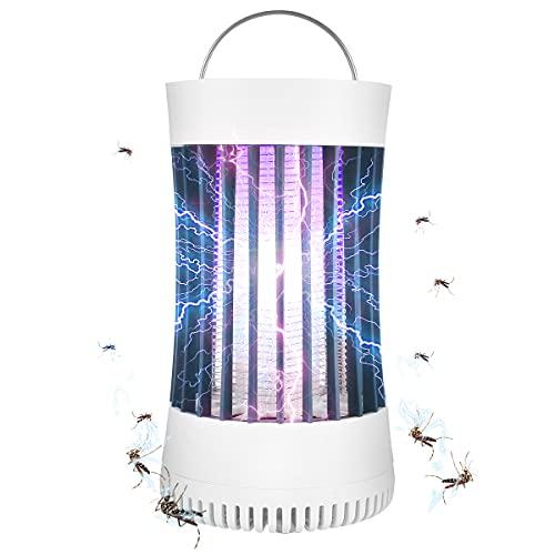 AICase Bug Zapper, USB recargable para interior y exterior, lámpara de trampa para mosquitos con batería de 2000 mAh, ventilador de succión, zapper eléctrico portátil para mosquitos, para el hogar, camping, mosquitos, patio, etc