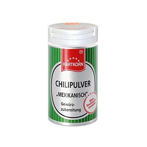 Chilipulver, mexikanisch - 32 g im Aluminium Gewürzstreuer von Hartkorn - wiederverschließbar und wiederbefüllbar