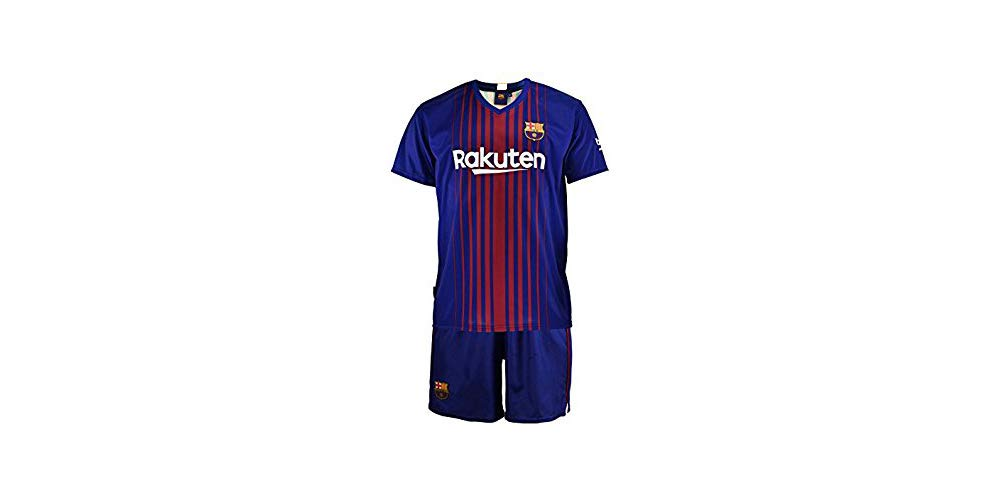 Conjunto - Kit 1ª Equipación Replica Oficial FC BARCELONA 2017-2018 Dorsal MESSI - Tallaje NIÑO (12 AÑOS): Amazon.es: Juguetes y juegos