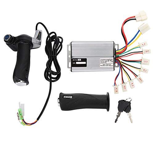 Yagosodee - Controlador de velocidad cepillada (motor de 1000 W, mango de rotación de acelerador, pantalla de batería con cerradura de 48 V)