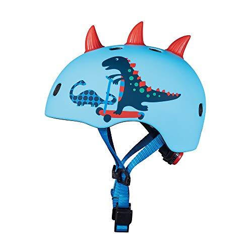 Micro Unisex, Jugend Casco DINOSAURIO 3D Talla S luz LED Helm, Dinosaurier (Mehrfarbig), S