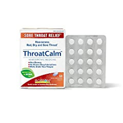 Throatcalm is a medicine cabinet must-have for every teacher singer or coach. It is recommended for everyone ages 12 & up andis available in a box of 60 quick-dissolving tablets. The quick dissolving tablets ensure there is no additional pain to swa...