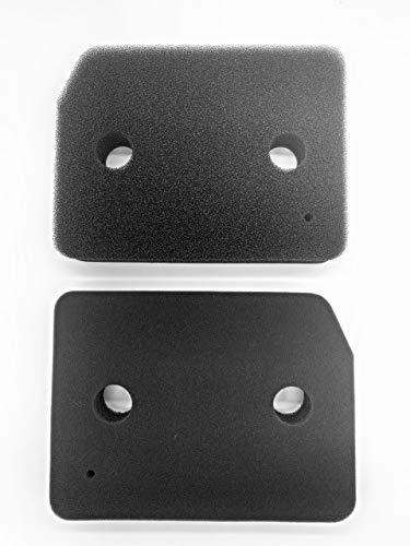 Miele, 9164761, set van 2 filters voor droger, warmtepompdroger, fijn-grof, 207 x 157 x 30 mm, sponsfilter, filtermat, condensdroger, Made in Germany, pluisfilter, schuimfilter, spons
