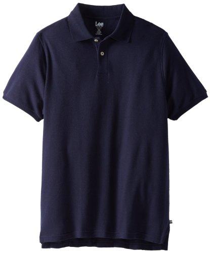 Lee Uniforms Men's Big-Tall Short Sleeve Pique Polo, Navy, 3X