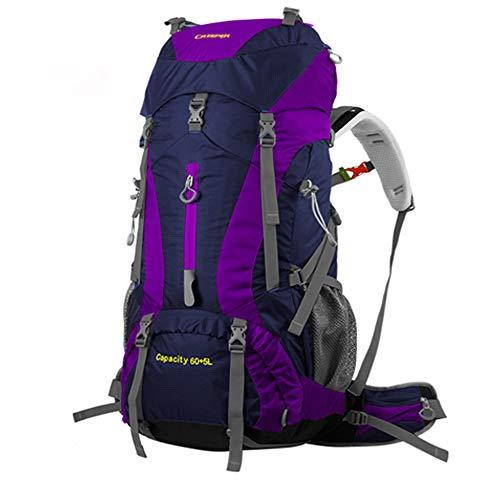 CREEPER 登山かばん 大容量 60L メンズ アウトドア スポーツ メンズ レディース 兼用 新モデル 登山リュック ザック 登山用バックパック 防災リュック バックパック軽量 丈夫で長持ち 収納性も抜群 レインカバー付き (オレンジ)