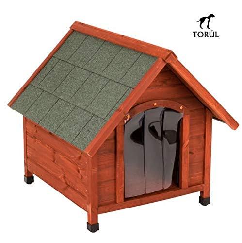 Spike Confort Torúl Caseta Puerta de Plástico para Mascotas Perros Grandes y Pequeños (L)