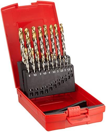 Dormer A002 Spiralbohrerkasette HSS mit Tin 1-10 mm 0,5 steigend 19 Stück in Plastik-Box A095 No.201