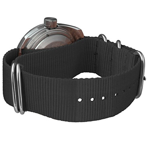 Vostok Amphibian Scuba Dude Automatic Mens Wristwatch Self-Winding Military Diver Amphibia Ministry Case Wrist Watch #710662 (Black)
