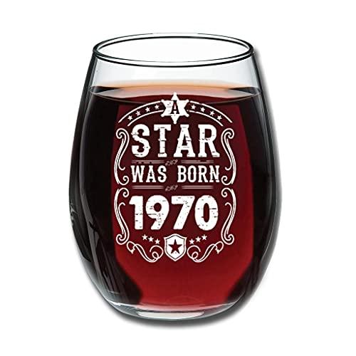 Lind88 Good Touch Star Was Born 1970 - Copa de vino tinto (350 ml)