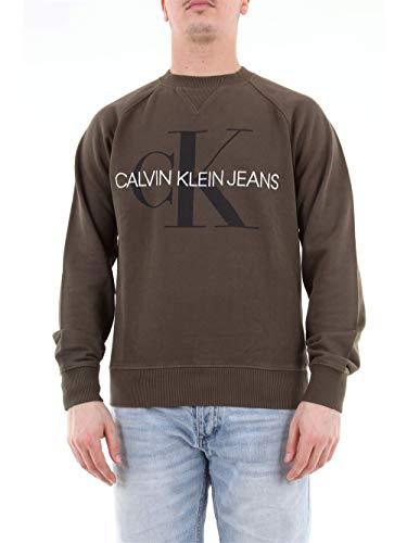Calvin Klein J30J313222 Felpa Uomo Verde S