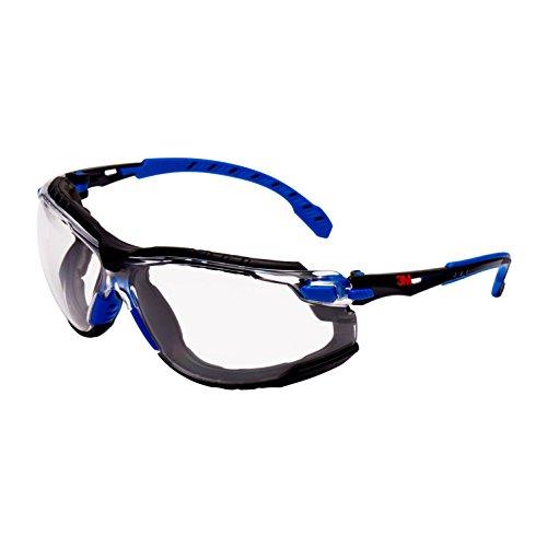 Solus s1101skt gafas de seguridad, antiniebla, lente transparente, Azul/marco negro