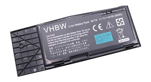 vhbw Li-Ion batería 8100mAh (11.1V) para Notebook Laptop DELL Alienware M17x R3,...