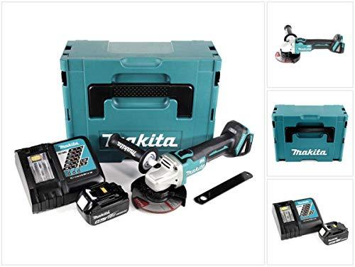 Makita DGA 504 RT1J Akku Winkelschleifer 18V 125mm Brushless + 1x Akku 5,0Ah + Ladegerät + Makpac