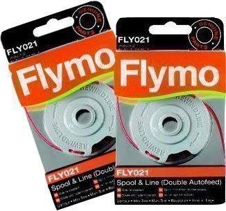 Flymo FLY021- Set di 2bobine di ricarica a doppio filo per tagliabordi