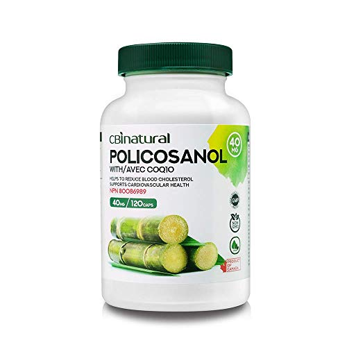 Cuban Policosanol 40mg with 30mg CoQ10 120 Capsules