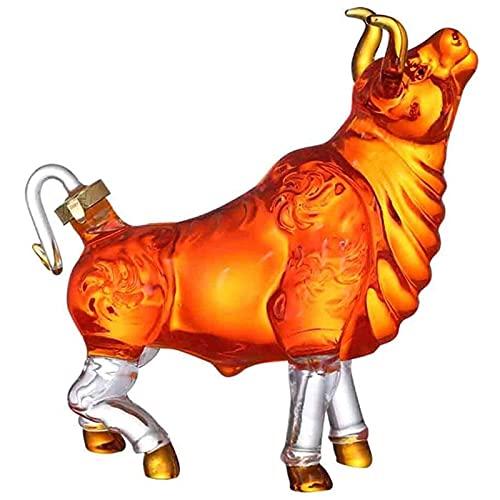 Animal Whisky Decanter Bull - Novelty Animal Formado de vaca Estilo Home Bar Whisky Decanter para licor Scotch Bourbon