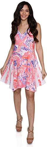 India Boutique Women's Cover-up Dress with Bedazzled Starfish Design, One Size (Pink)