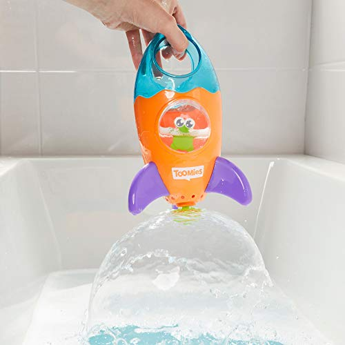 TOMY Toomies Fountain Rocket Baby Bath Toy | Shower Baby Toy for Water Play in the Bath or Pool | Kids Bath Toy Suitable for Toddlers & Children - Boys & Girls 1, 2, 3 & 4+ Year Olds