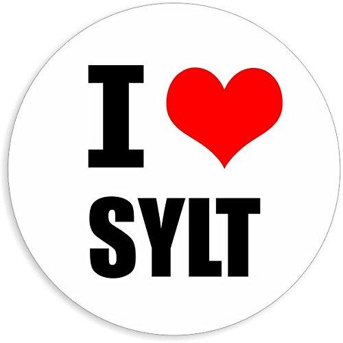 I love Sylt in 2 Größen erhältlich Aufkleber mehrfarbig Sticker Decal