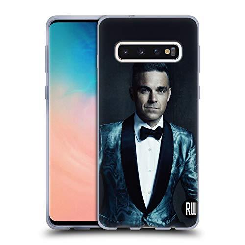 Head Case Designs Offizielle Robbie Williams Dunkler Hintergrund Kalendar Soft Gel Huelle kompatibel mit Samsung Galaxy S10