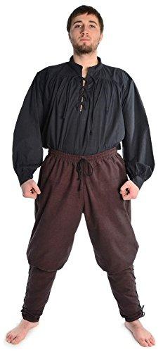 HEMAD Pantalones de algodón para hombres Viking - con cordones - S/M Marrón