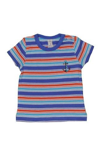 Sense Organics - T-shirt Bébé garçon Tabris Baby S/S T-Shirt - Bleu (Blue Multi Stripe) - 9 mois