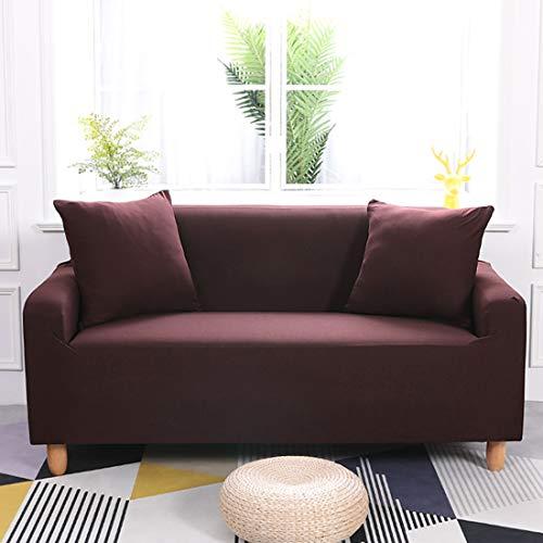 ENZER Funda de sofá elástica Tela elástica, Color Puro, para sillón de...