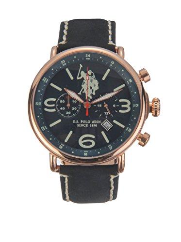 US Polo Association Reloj Analógico para Hombre de Cuarzo con Correa en Cuero USP4253BL