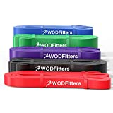 WODFitters Pull Up Assistance Bands - Stretch Resistance Band - Mobility Band - Powerlifting Bands, Durable Workout / Exercise Bands - SINGLE BAND or SET (5 Band Set)