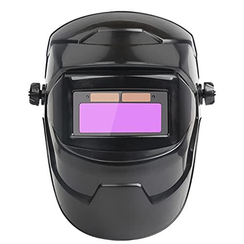 ONE-KJWH Casco De Soldadura De Oscurecimiento Automático, Máscara De Soldadura Ajustable, Máscara De Máquina De Soldadura De Sombreado De Casco De Soldador De Batería