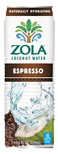 Zola Coconut Water with Espresso 17.5 Ounce (Pack of 12)