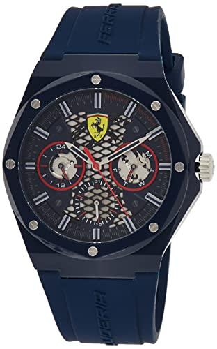 Scuderia Ferrari Herren Analog Quarz Uhr mit Silicone Armband 830788