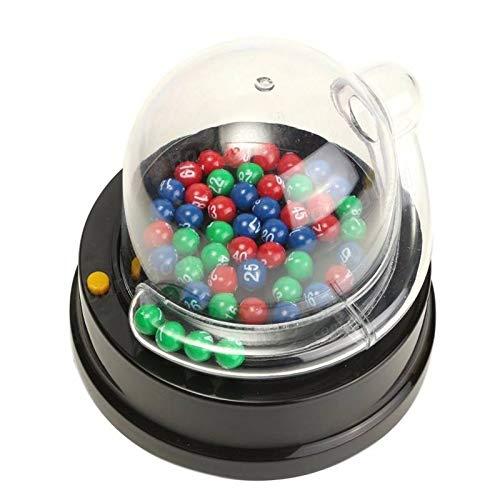 Elektrische geluksgetal plukken machine Mini loterij Bingo spellen schudden geluksbal