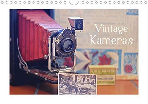 Vintage-Kameras (Wandkalender 2021 DIN A4 quer): Historische Fotoapparate ins Bild gesetzt (Monatskalender, 14 Seiten )